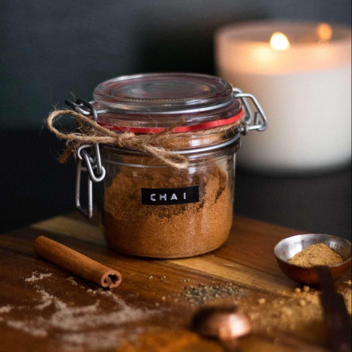 Chai Powder in a Glass Pot